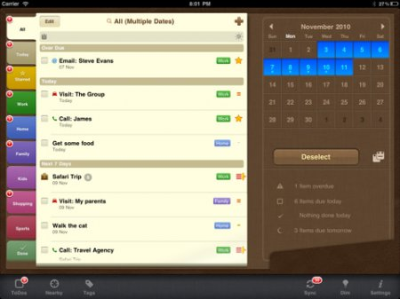 2Do: Tasks Done in Style - продвинутые заметки для iPad | iPhone | iPod