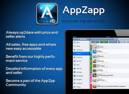 AppZapp HD Pro для iPad | iPhone | iPod - скидки и халява в appstore