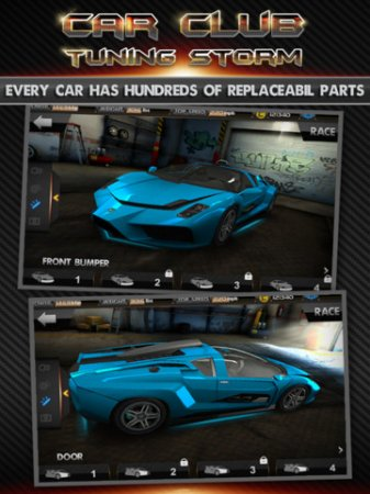 Car Club:Tuning Storm для iPad | iPhone | iPod - тюнинг и гонки