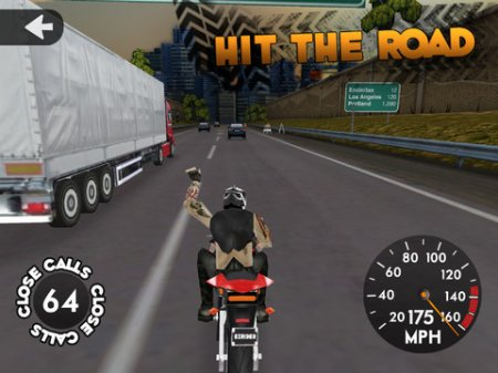 Highway Rider для iPad | iPhone | iPod - о том как не стоит кататься на мотоцикле