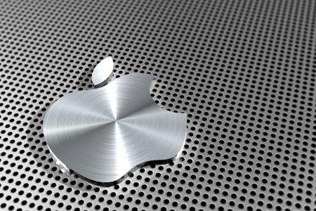 стальной логотип Apple